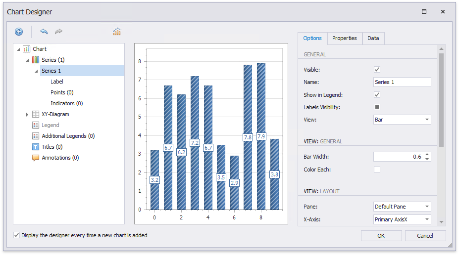 Use Charts in Reports   EarthCape Documentation